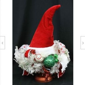 Other - Whimsical Christmas Santa Hat Centerpiece Wreath S